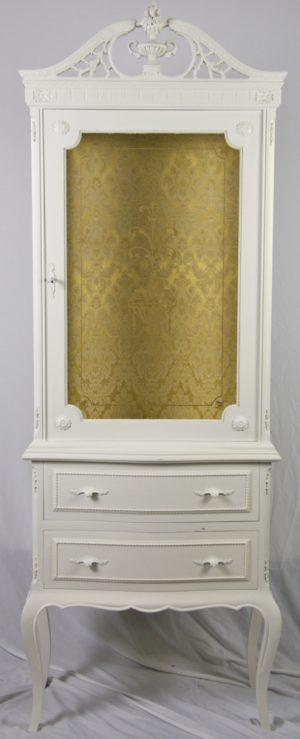 1900s Swedish Gustavian Glass Front Display Cabinet