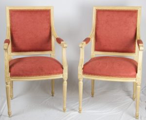 1900s Gustavian Square Back Natural Carver Chairs