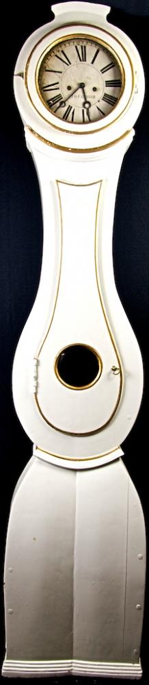 1800s Roman Numeral White Gold Mora Clock