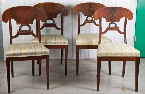 Antique Biedermeier Wreath Dining Chairs