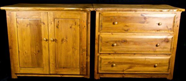 Bespoke Handmade Antique Wainey Oak  Sideboard