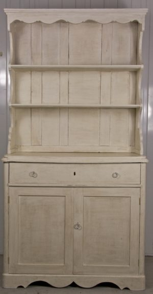 Handmade Bespoke White Folk Art Country Dresser