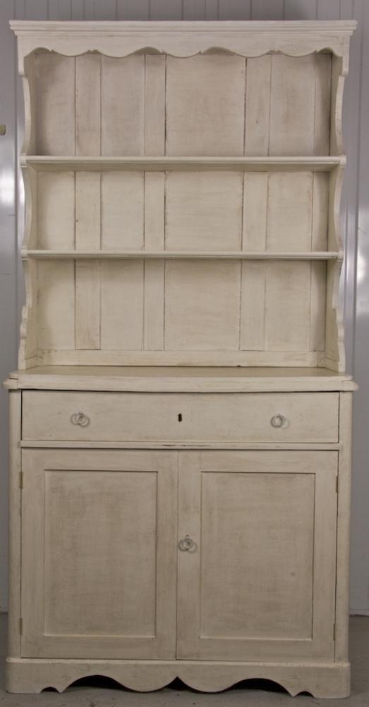 Handmade Bespoke White Folk Art Country Dresser