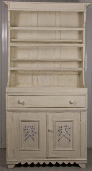 Bespoke Handmade White Decorated Country Dresser