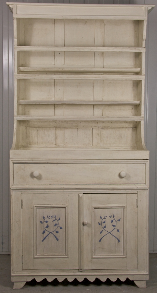 Bespoke Handmade White Decorated Country Dresser
