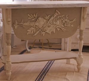3 Foot Handmade Bespoke Antique PIne Painted Server Console Table