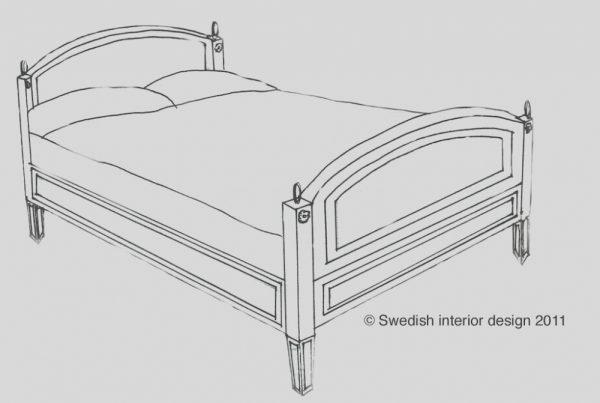 Bespoke Handmade Gustavian Phineal Bed