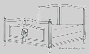 Bespoke Handmade Gustavian Roundel Bed