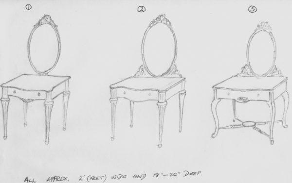 Bespoke Handmade Mirror Dressing Table Designs
