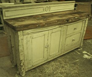 Bespoke Handmade Antique Pine Top Sideboard