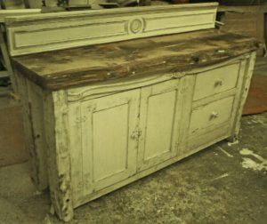 Bespoke Handmade Antique Pine Top Sideboard