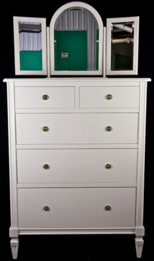 Bespoke Handmade White 3 Mirror Dressing Table