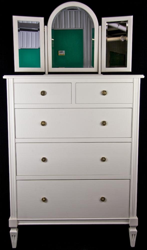 Bespoke Handmade White 3 Mirror Dressing Table