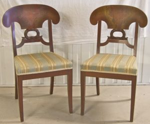 1800s Biedermeier Wreath Dining Chair