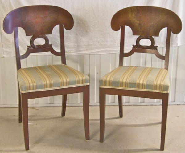 1800s Biedermeier Wreath Dining Chair