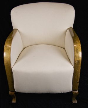Swedish 1900s Art Deco Curved Back Armchairs