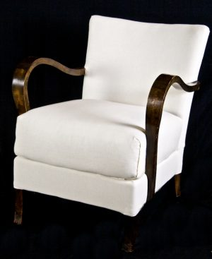 Early 1900s Swedish Art Deco Open Arm Armchairs