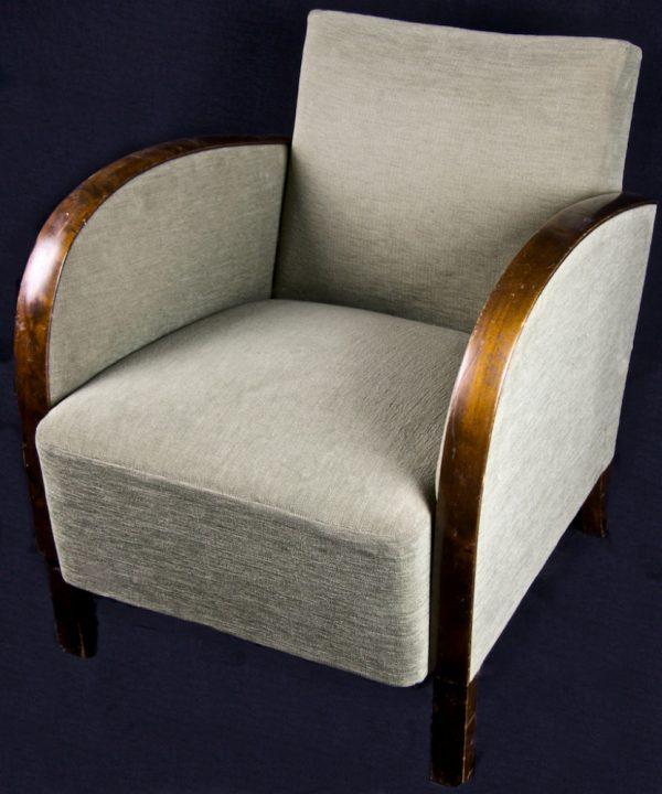 1900s Swedish Original Art Deco Armchairs