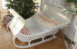 1800s Real Swedish Antique Double Seat Sleigh