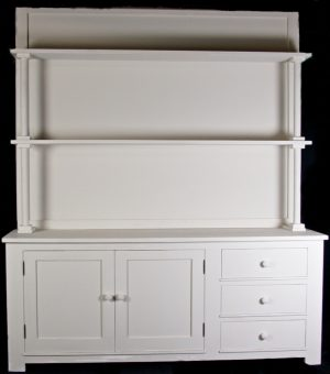 Handmade Bespoke White Open Top Country Dresser