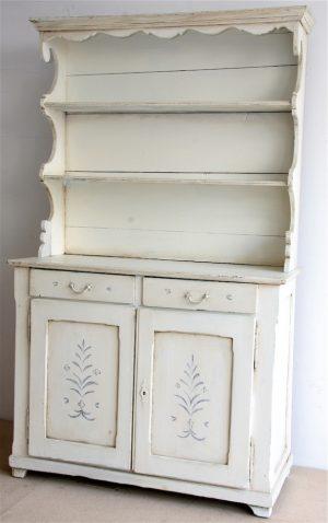 Handmade Bespoke White Distressed Country Dresser