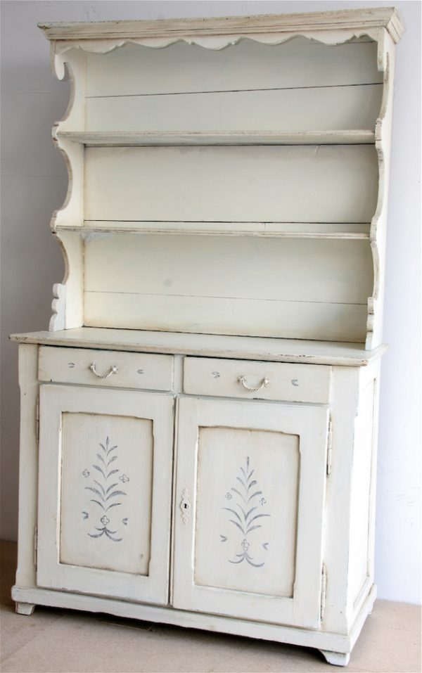 Handmade Bespoke White Distressed Country Dresser