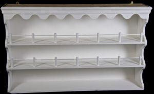 Handmade Gustavian Plate Rack Wall Cabinet