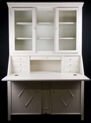 Handmade Bespoke Country Writing Desk Cabinet