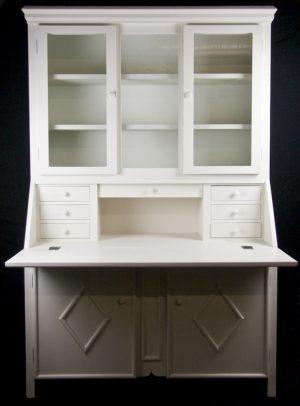 Handmade Bespoke Country Writing Desk Cabinet