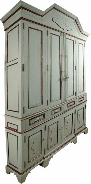 Handmade Bespoke Oak Gustavian 12' cupboard