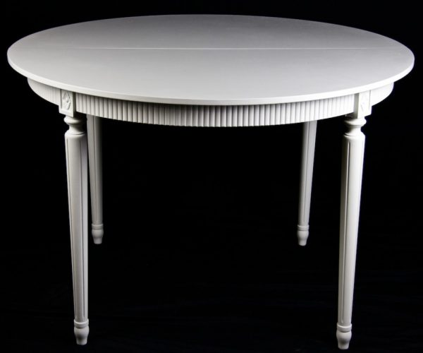 1900s 190cm Gustavian Grey Extendable Dining Table