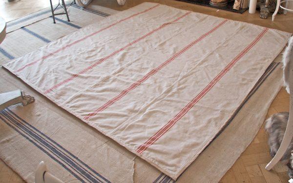 2.5m Handmade Antique Hemp Linen Rug
