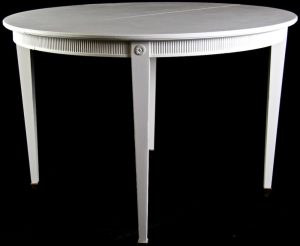 1900s 300cm Gustavian Chalk White Extendable Dining Table