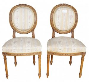 Padded Back 1900s Gustavian Dining Chairs