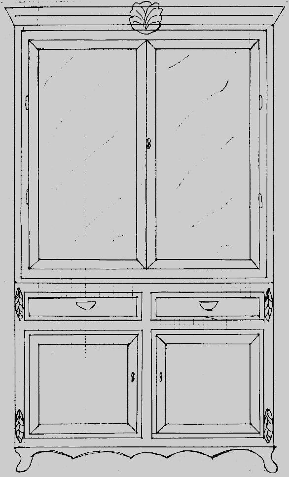 Bespoke Gustavian 2 Door Glass Front Cabinet Dresser