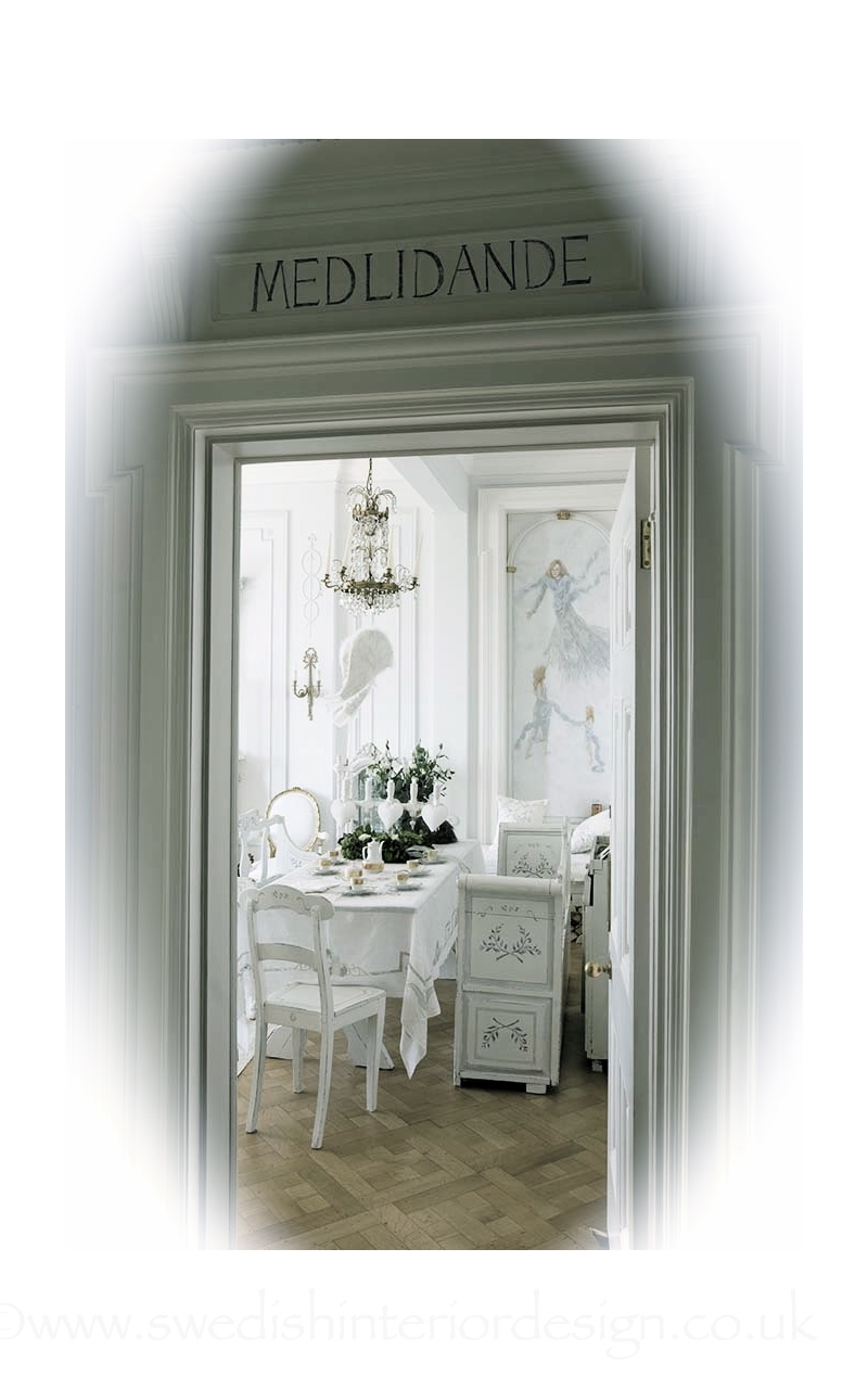 swedish writing on a gustavian door