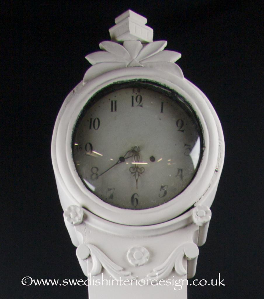 white 220cm antique mora clock