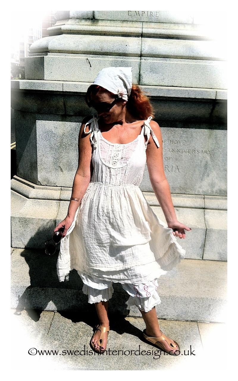 madeleine lee in Ewa i walla white dress