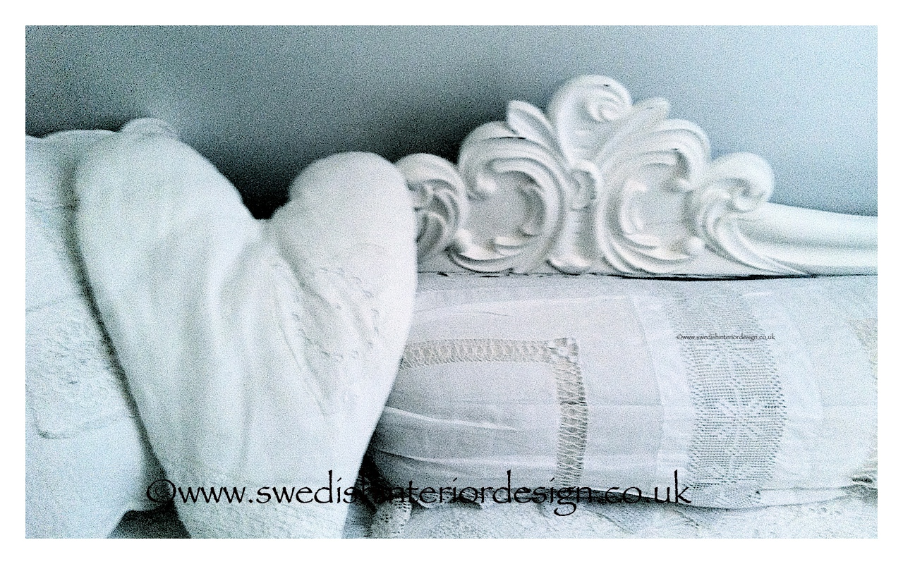bespoke heart cushion made with antique lace