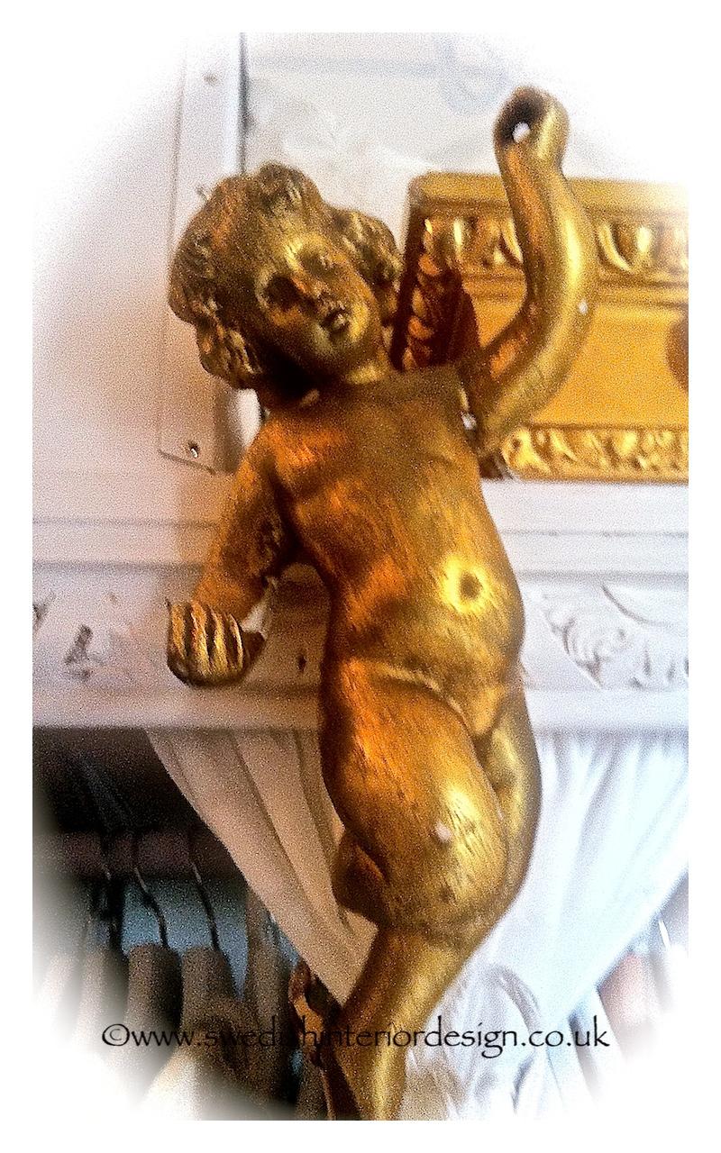 antique gilt french cherubs