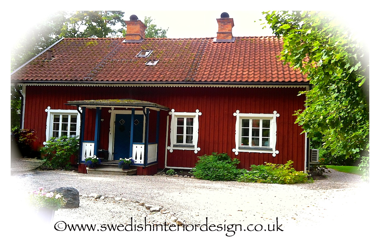 swedish classic red country house