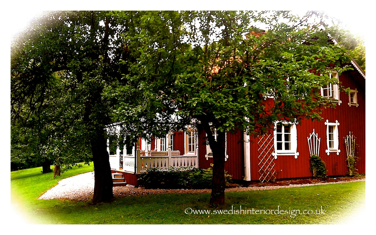 Side view of Swedish country cottage
