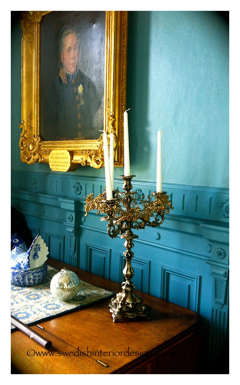 antique candelabra and swedish furniture
