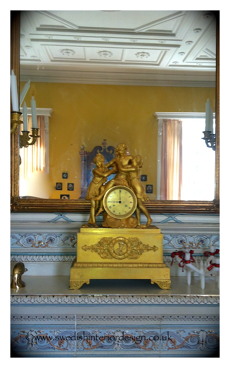 antique gustavian clock