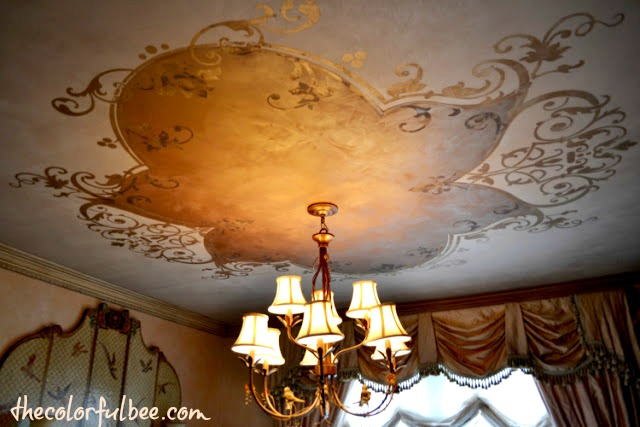 http://thecolorfulbee.com trompe l'oeil ceiling