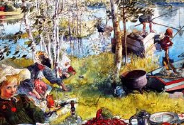 swedish folk scene by carl larsson