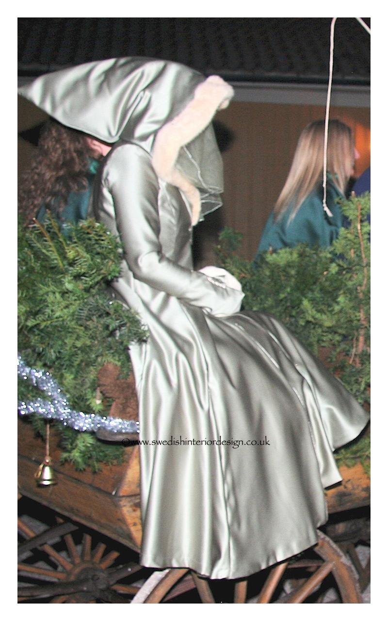 madeleine lee wedding cloak in silk and ermine