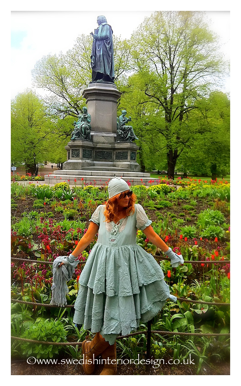 madeleine lee in mint ewa i walla dress in stockholm park