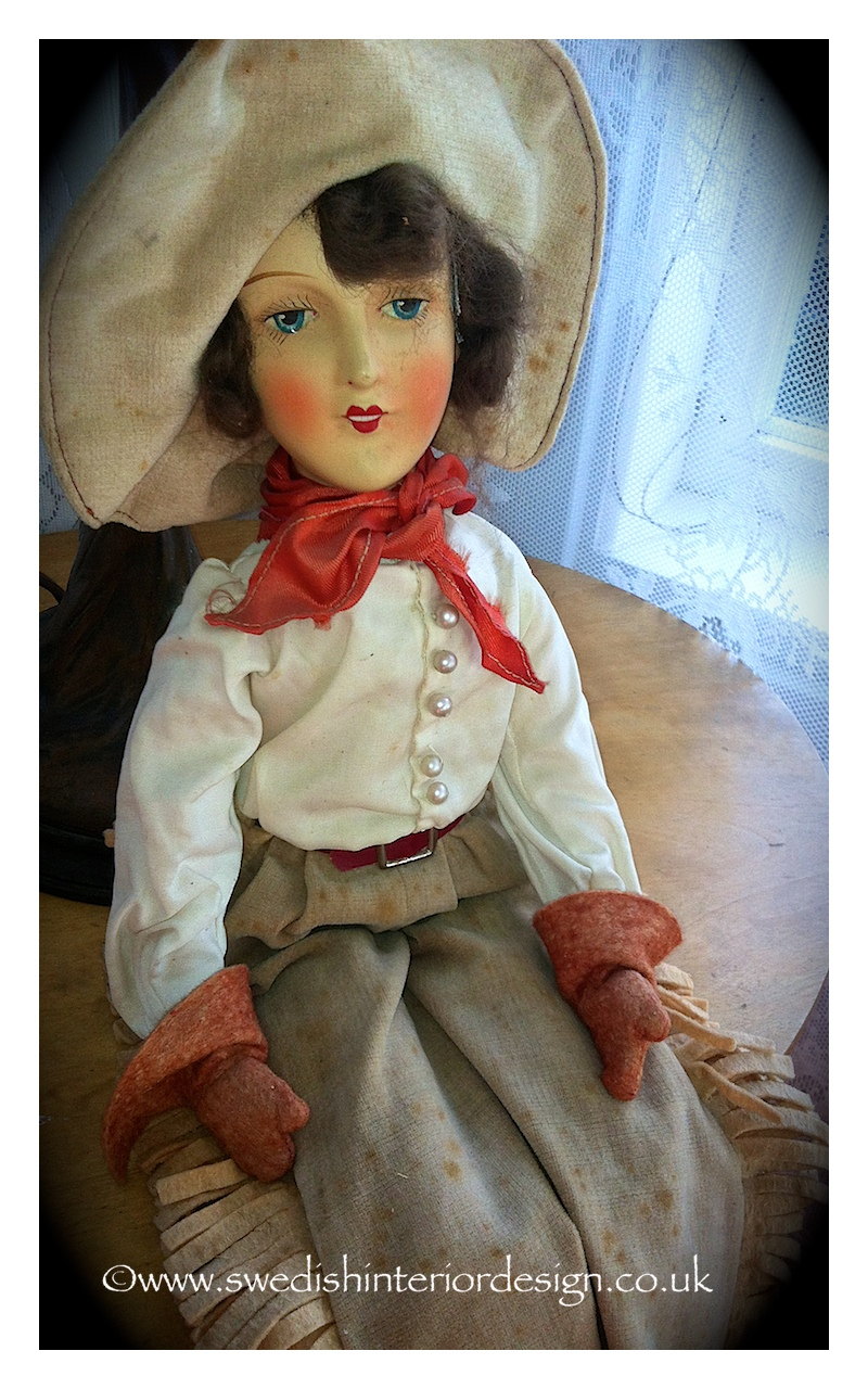 antique doll from sweden