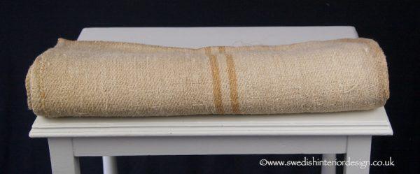 double caramel hemp linen grain sack